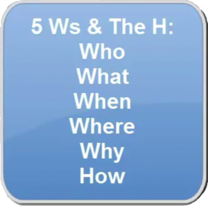 5 Ws and the H