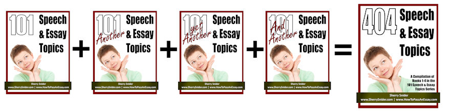 404 Speech & Essay Topics for Under 4 Bucks